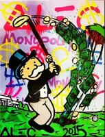 Alec Monopoly Abstract Handcraft HUGE OIL PAINTING ON CANVAS Golf 24x32Unframed