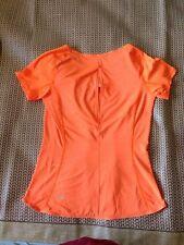 NWOT lululemon Run Fast Track SS- Size 4 Pizazz Orange