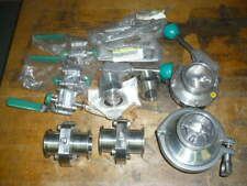 Alfa Laval Tri Clover sanitary butterfly valves, ball valves, fittings, lot