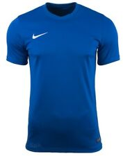 Mens Kids Nike Football Rugby Sports Match Training T Shirt Top Jersey Park VI Large 41/43 Royal