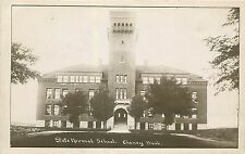 c1914 RPPC Bell Tower at State Normal School, Cheney WA Spokane Co. Stadler Used