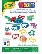 MODELING DOUGH CUT & CREATE ANIMAL SET 12 PIECES CRAYOLA DOUGH W/ CUTTERS ETC.
