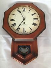 Works Great! Seth Thomas Wall Clock ~ Solid Wood ~ Model E477-001 ~ Made in USA