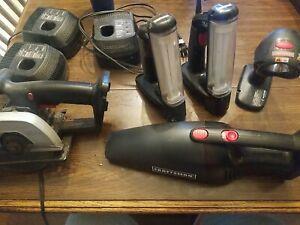 Craftsman Cordless 18 & 19.2 VOLT TOOLS  Saw, Lights,Vacumm Battery Chargers