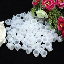 200pcs Tattoo Supplies Plastic Ink Cups Pigment Caps 100 Medium + 100 Small New