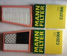 2 x MANN LUFTFILTER - LUFTFILTER SET C27006 + C25004 W164 W221 W211 280  320 CDI