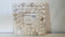 "Gallery Collection New 3.25"" X 3.25"" Seashell Freestanding Picture Photo Frame"