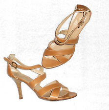 COLISÉE DE SACHA sandales cuir camel P 37 = 38 TBE