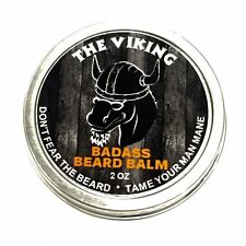 Badass Beard Care Balm for Men the Viking Scent Promote Healthy Growth 2 Oz NEW