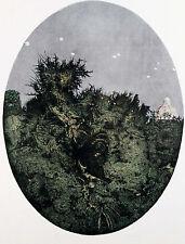 "Giuseppe BARTOLINI ""Orto botanico con paracadutisti"", 1980 lito originale"