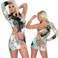 Sexy Women's One shoulder Clubbing Party Bodycon mini Dress One size UK 8/10