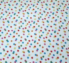 Happiness is Peanuts BTY Quilting Treasures Polka Dot White Charlie Brown Snoopy