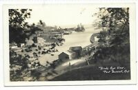 Elgin County PORT BURWELL, ONTARIO Birds Eye View - Real Photo Postcard