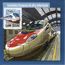 Guinea-Bissau High Speed Trains Stamps 2015 MNH ICE European Railways Rail 1v SS