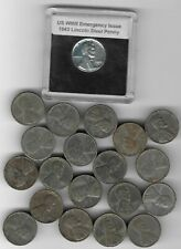 20 Rare Old Wwii Us Coin Collection 1943 World War Steel Lincoln Penny Lot S20