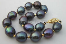 8-9mm Natural south sea black pearl bracelet 7.5-8 inch LL003