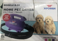 XPOWER B-55 2 HP Portable Home Pet Grooming Dog Cat Force Dryer & Vacuum- Green