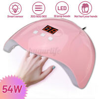 54W LED UV Nail Lamp Smart Gel Nails Polish Dryer Manicure Curing Machine