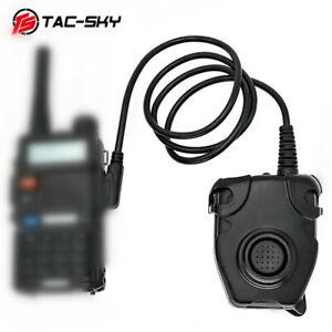 TAC-SKY tactical headset walkie-talkie military adapter PELTOR PTT kenwood PTT