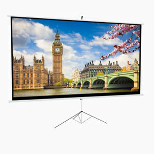 HD Projector Screen Mobile Portable Projection Screen With Tripod Stand All Size