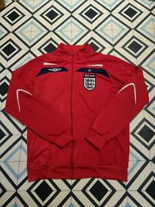 England Training Track Top Jacket Red Large