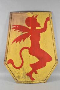 k59s33- Altes Blechschild mit Teufel