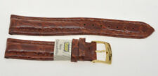 Cinturino Golden Brown reinforced crocodile strap 18mm (16mm at the buckle) new