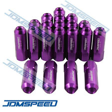 M12X1.5MM 20 PCS PURPLE OPEN END EXTENDED ALUMINUM TUNER RACING WHEEL LUG NUTS