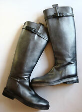 Ann Demeulemeester Top Strap Riding Boots SOLD OUT COLOR Gunmetal Silver NWOB