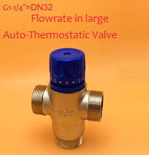 """BSP Brass 1-1/4"""" DN32 Solar Energy Thermostatic Mixing Valve/Thermostatic faucet"""