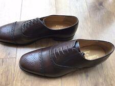 Barker/Loake UK 7 Shoe Brown Oxford Semi Brogue Calf