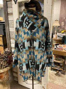 Rhonda Stark Ocean Sky Berber Lined Button Collar Teton Coat!!! NWT!!!