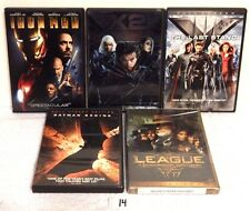 #14 Lot 5 DVDs-Iron Man-League Extraordinary Gentlemen-Batman-Xmen 2 &Last Stand