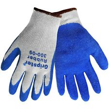 Global Glove Gripster 300 Blue Rubber Coated Gloves 12 Pair S 2xl