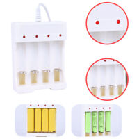 4 Slots LED Indicator Rechargeable AA/AAA Ni-MH Ni-Cds Battery Charger White