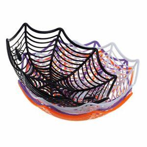 Black Spider Bowl Halloween Party Plastic Home Kitchen Food Storage Accessories