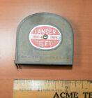 Vintage LANCER 6ft Tape Measure White Metal Tape USA Made Red Label