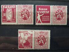 timbres belges : publicité 1927 1932 COB n° PU 38, 39, 40   NEUF *