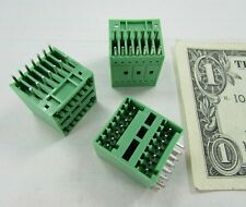 Lot 8 Degson Plug In Terminal Blocks Connectors 15EDGRH-2.5-14P-14-00A(H) Green