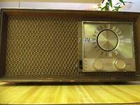 "1950's Zenith Radio, AM/FM Tube Model T2530/M730 Wood Cabinet  ""WORKING"""