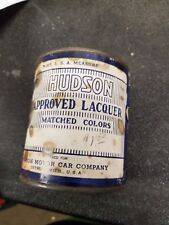 VINTAGE HUDSON TIN PAINT CAN STEP DOWN HORNET WASP  Commodore SUPER SIX LACQUER