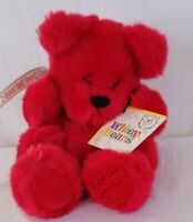 Sally Winey Bears Stuffed RED Holly Berry SIGNED Numbered To 1000 Autographed