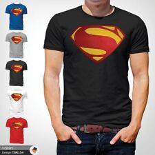 MENS SUPERMAN T SHIRT CLASSIC FIT DC COMICS XS S M L XL XXL NEW Black