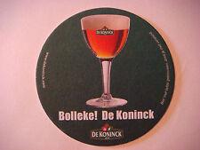 Beer Bierdeckel Coaster ~ Brouwerij De KONINCK Belgian Ale ~ Antwerpen, BELIGUM