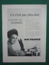 11/1962 PUB AIR FRANCE AIRLINE CARAVELLE AIRLINER ORIGINAL FRENCH AD