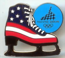 "2006 Torino Olympic ""PATRIOTIC USA FIGURE SKATE"" Pin"