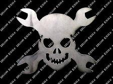 Small Skull & Cross Wrenches Metal Garage Art Hot Rat Rod Chopper Christmas Gift