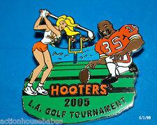 HOOTERS RESTAURANT 2005 L.A. LA GOLF TOURNAMENT FOOTBALL PLAYER LAPEL PIN