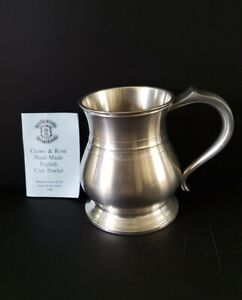 Crown & Rose English Cast Pewter Made in London