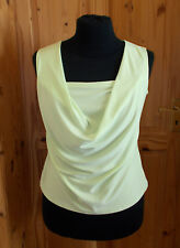 ROMAN chartreuse citrus lime green sleeveless cowl camisole vest tunic top 18 46